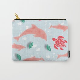 Dolphin blue Carry-All Pouch