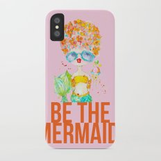 pink lemonade -- be the mermaid. iPhone X Slim Case
