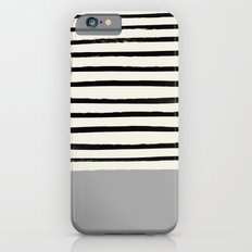 Storm Grey x Stripes iPhone 6s Slim Case