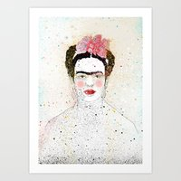frida kahlo Art Prints featuring Frida Kahlo  by Marttala