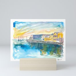Monterey Bay California Cannery Row Waterfront Mini Art Print