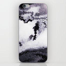 titanium white / carbon black / silver iPhone Skin