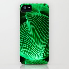 Green in the glass ball iPhone Case