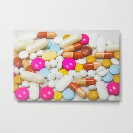 Pills (Color) Metal Print