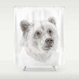 Grizzly :: A North American Brown Bear Shower Curtain
