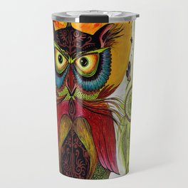Boho Owl Travel Mug