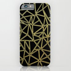 Abstract Blocks Gold Slim Case iPhone 6s