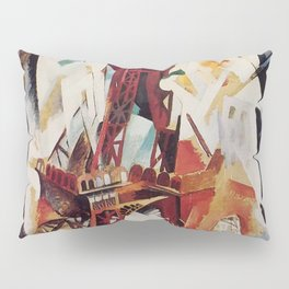 "Robert Delaunay ""Graphic Champs de Mars: The Red Tower"" Pillow Sham"