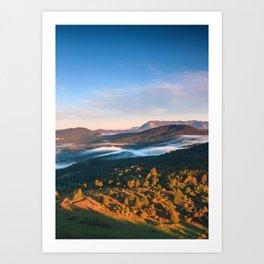 Stunning autumn scenery from Šilentabor, Slovenia Art Print