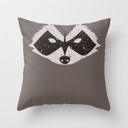 Rocket Raccoon - Log Trap Throw Pillow