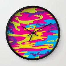Flamboyant Camo Print Wall Clock