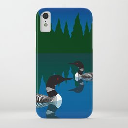 Loons in a Woodland Lake iPhone Case