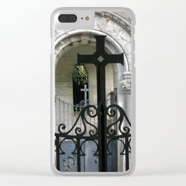 At the Monastery Gate Clear iPhone Case