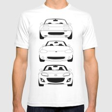 MX-5/Miata Generations White LARGE Mens Fitted Tee