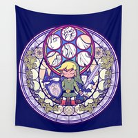the legend of zelda Wall Tapestries featuring The Legend Of Zelda by NicoleGrahamART