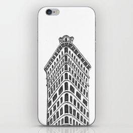 Flatiron Building Drawing iPhone Skin