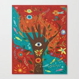 Fatima Hamsa Canvas Print