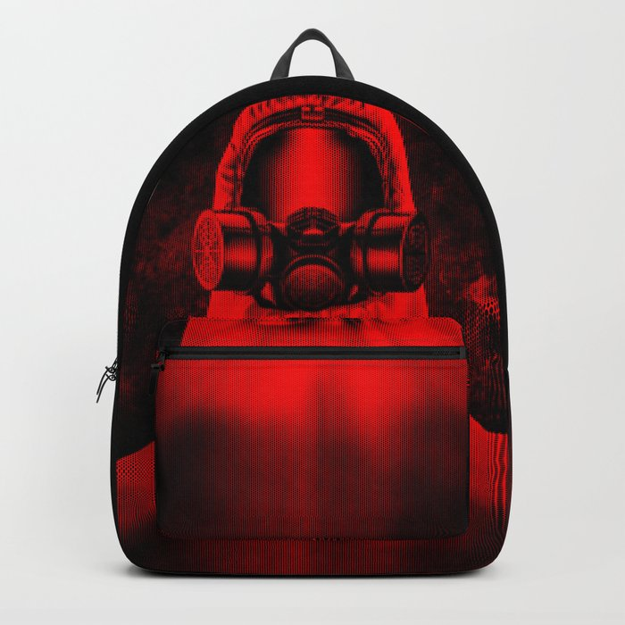 Toxic environment RED / Halftone hazmat dude Backpack