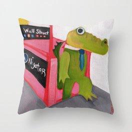A for Alligator Throw Pillow