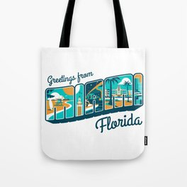 Greeting from MIAMI Florida Tote Bag