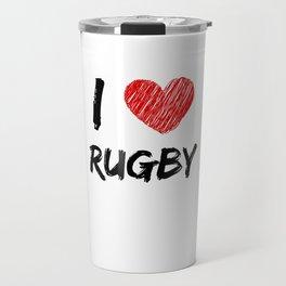 I Love Rugby Travel Mug