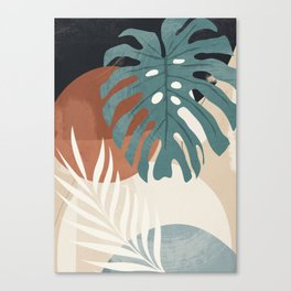 Abstract Art Tropical Leaves  Canvas Print