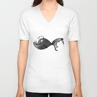lantern V-neck T-shirts featuring Lantern Fish by GoAti