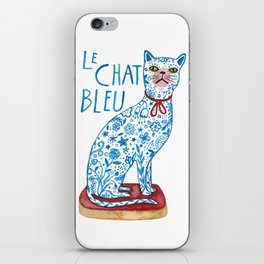 Le Chat Bleu iPhone Skin
