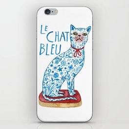 Le Chat Bleu iPhone Skin