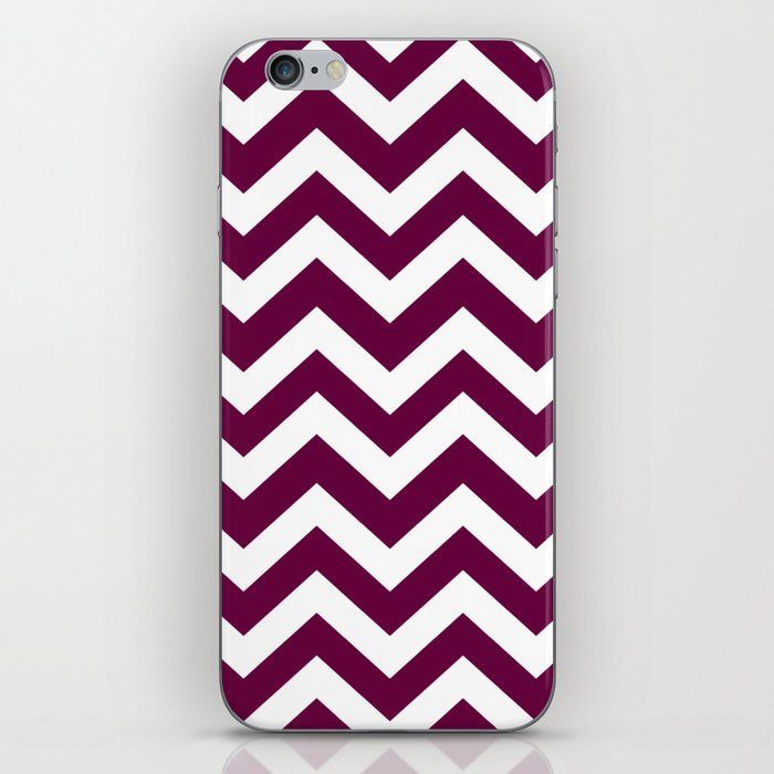 Tyrian purple - violet color -  Zigzag Chevron Pattern iPhone Skin