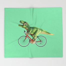 BIKE T-REX Throw Blanket