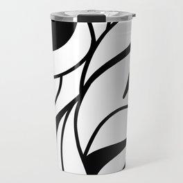 Zebra pattern / Back and white waves Travel Mug