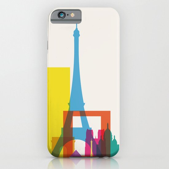 Shapes of Paris. Accurate to scale. iPhone & iPod Case