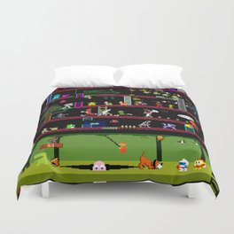 50 Classic Video Games Duvet Cover
