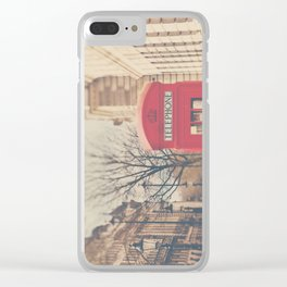 on a city street ...  Clear iPhone Case