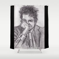 bob dylan Shower Curtains featuring Bob Dylan by jamestomgray