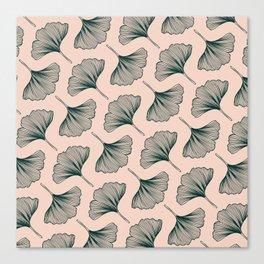 Diagonal Gingko Leaves Canvas Print