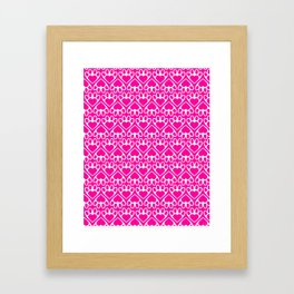 Paw Prints on my Heart - in Magenta Framed Art Print