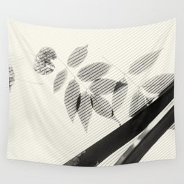 Forgotten Leaves on Plastic Roof Abstract Wall Tapestry