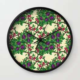 Flower Framework Wall Clock