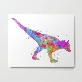 Carnotaurus Dinosaur Metal Print