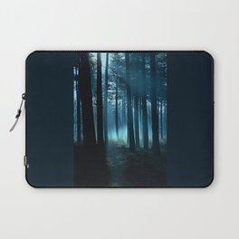 Haunted forest- winter mist in forest Laptop Sleeve