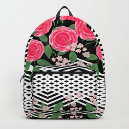 Pink roses. Backpack