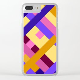 Weave pattern #3 Clear iPhone Case
