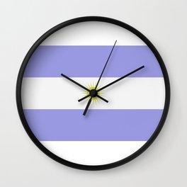 Argentine flag Wall Clock