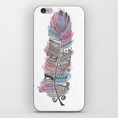 Purple and Blue Zen Feather iPhone & iPod Skin