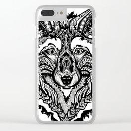 Spirit Wolf Clear iPhone Case