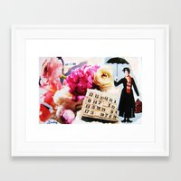 mary poppins Framed Art Prints featuring Mary Poppins by Patti Friday