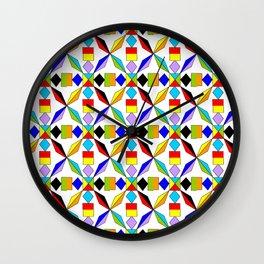 symetric patterns 56 -mandala,geometric,rosace,harmony,star,symmetry Wall Clock