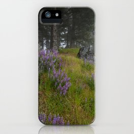 Bald Hill Lupines iPhone Case
